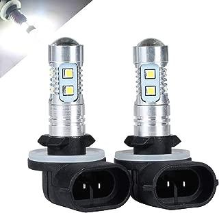 HOTSYSTEM 881 H27W/2 LED Light Bulbs Extremely Bright for Fog Driving DRL Daytime Running Lights(White,2-pack)
