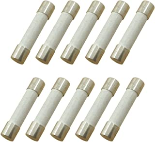 YOLISTIC (Pack of 10) 5 Amp Slow-Blow Time Delay Fuse Ceramic 6x30mm