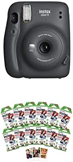 Fujifilm Instax Mini 11 Instant Camera - Charcoal Grey + w/120-pack