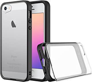 RhinoShield MOD for iPhone SE/5s (with Rim, Button, Frame, Clear Back Plate - Black