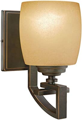 Hampton Bay 1-Light Bronze Wall Sconce