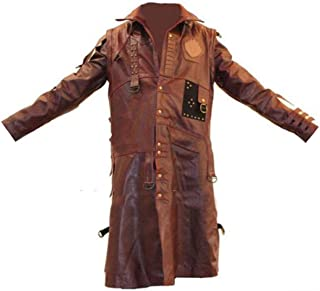 KAAZEE Yondu Udonta Rooker Brown High Qaulity Synthetic Leather Trench Costume Coat