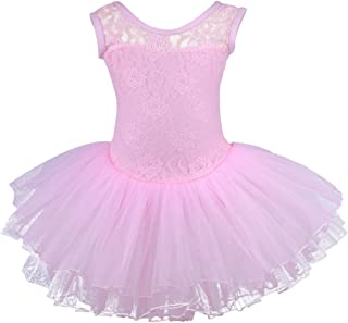 Meeyou Little Girls' Flower Ovelay Ballet Tutu Dress