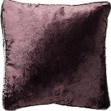 McAlister Textiles Glänzender Samt   Kissenbezug für Sofakissen in Aubergine Violett   40 x 40cm  ...