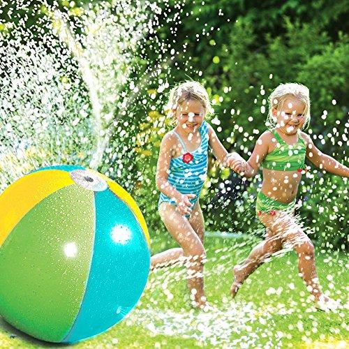 per Pelotas Hinchables de Agua Pulverización Bolas Inflables Gigantes para Piscina y Playa Juegos de Bolas para Niños Juguetes de Jardín (B)