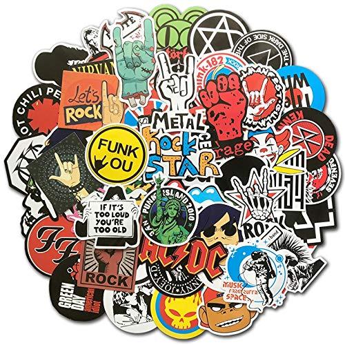 Rock Aufkleber Musik Retro Band Graffiti JDM Aufkleber zu DIY Gitarre Motorrad Laptop Gepäck Skateboard Auto Aufkleber Bombe 100 Stück/Los