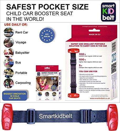 Smart Kid Belt Safest Pocket Size Car Seat Booster Group 2/3 For Kids 5-12 Years Old EU ECE R44 Certified UK Road Legal