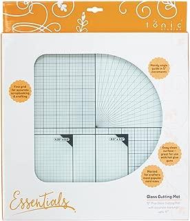 Tonic Studios 350e 12 x 12mm Glass Cutting Mat, White/ Green