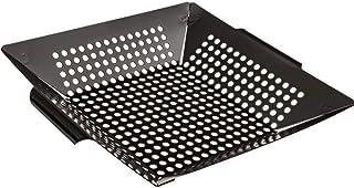 Skilcraft Best Vegetable Grill Pan Basket - Large Heavy Duty Grill Basket - Safe/Clean BBQ Grilling Basket (Large 12x12x3 ...