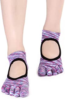 Cotton Halter Non-Slip Fingerprint Cotton Four Seasons 3 Pairs/Package Yoga Socks,Fully Breathable