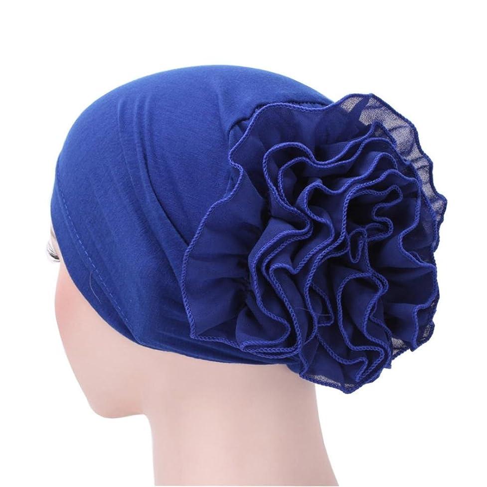 QingFan Women Muslim Solid Flowers Cancer Chemo Hat Fashion Turban Headbands Hair Loss Wrap Cap mzc181682121369