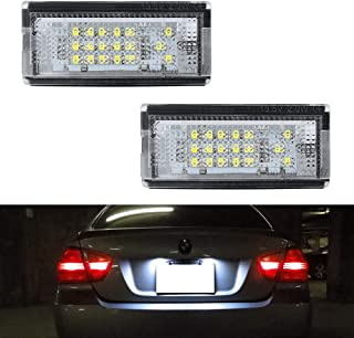 GemPro 2pcs Car License Plate Light Assembly for BMW E46 3 Series, Powered by 18-SMD Xenon White LED Lights