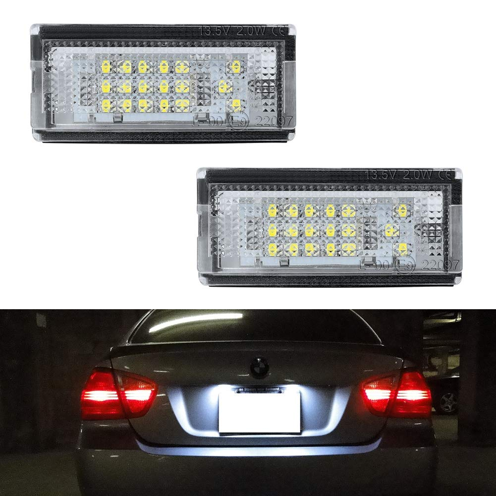 Genuine BMW E46 License Plate Light Lens Covers x2 PAIR 2pcs OEM 51138236269