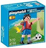 Playmobil Fútbol - Fútbol: Jugador España, Juguete Educativo, Multicolor, 10 x 3,5 x 10 cm, (4730)