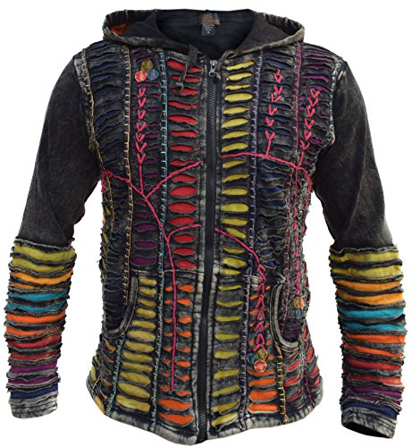 Little Kathmandu Herren Jacke, Baumwolle, Razor Cut, Pixie, Kapuze Gr. Medium, Winter (fleece lined)