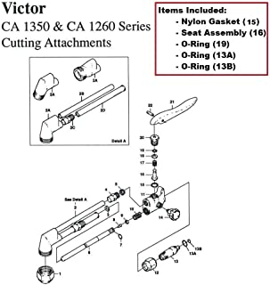 Victor CA1350 & CA1260 Cutting Torch Rebuild/Repair Parts Kit CA25 CA270