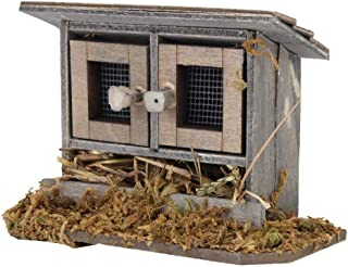 Fabater Miniature Poultry House, Dollhouse Accessories Dollhouse Chicken Coop, 1/12 Exquisite Wooden Dollhouse Kids Gift T...