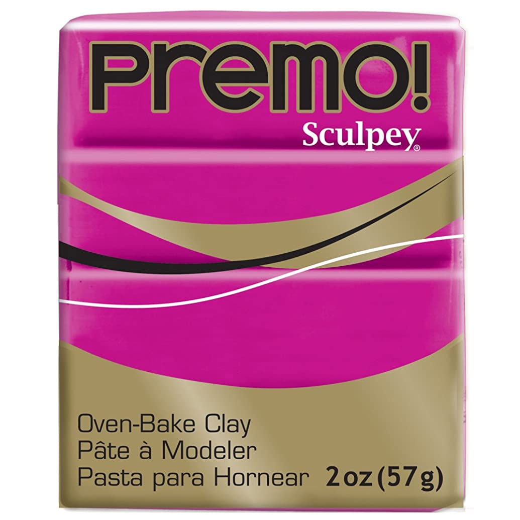 Premo Sculpey Polymer Clay 2 Ounces-Fuchsia