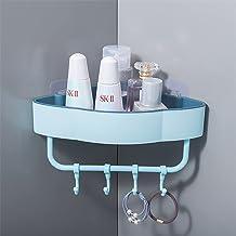 Sheif Hot Koop Bad Driehoekige Sink Regal Plastic, Zelfklevende Keuken Opbergmand Badkamer/keuken planken (Kleur: Groen)