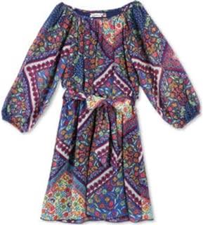 Lots of Love by Speechless Girls' Printed Chiffon a Line Dress - Blue - 14