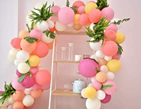 Gustawarm Pink Balloons Arch & Garland Kit / 90pcs Pastel Pink Party Balloons Macaron 9 Colores / para Bodas, Baby Shower, Graduación, Aniversario Decoraciones para Fiestas Orgánicas