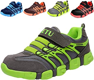 DADAWEN Boy's Girl's Athletic Strap Breathable Running Shoes Casual Sneakers (Toddler/Little Kid/Big Kid)