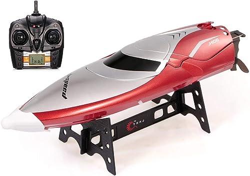 están haciendo actividades de descuento Alta velocidad RC Boat Racing Boat 30 30 30 km   h Alta velocidad 2.4G 2CH 150m Control remoto Distancia Control remoto a prueba de agua Remo Navidad Cumpleaños Regalo para Niños y adultos-35.2cm  9.2cm   ventas al por mayor