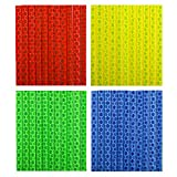 Tagvo Bicicletta riflettente 4 pacchetti / 48 pezzi (12 x blu + 12 x verde + 12 x rosso + 12 x giallo)