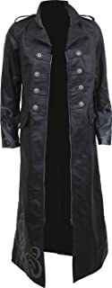 Womens - Fatal Attraction - Gothic Trench Coat PU-Leather Corset Back