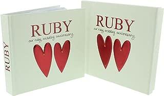Wendy Jones-Blackett Beautiful Designer Ruby Wedding Anniversary Photo Album & Keepsake Box