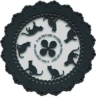 セット PVCコースターキャット5枚おまとめセット (ブラック)