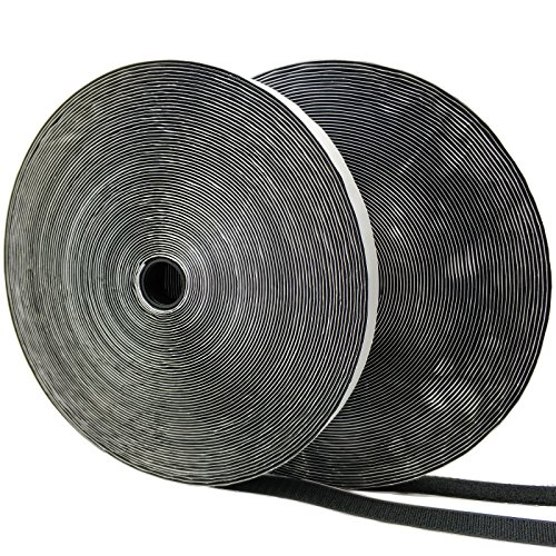 Eroilor Double-Sided Adhesive Hook and Loop Tape, 24 Meters 20mm Width Extra Strong Adhesion Self-Adhesive Over 10,000 Time Adhesive DIY Band - Black -  BAND-XO-24M-BLACK