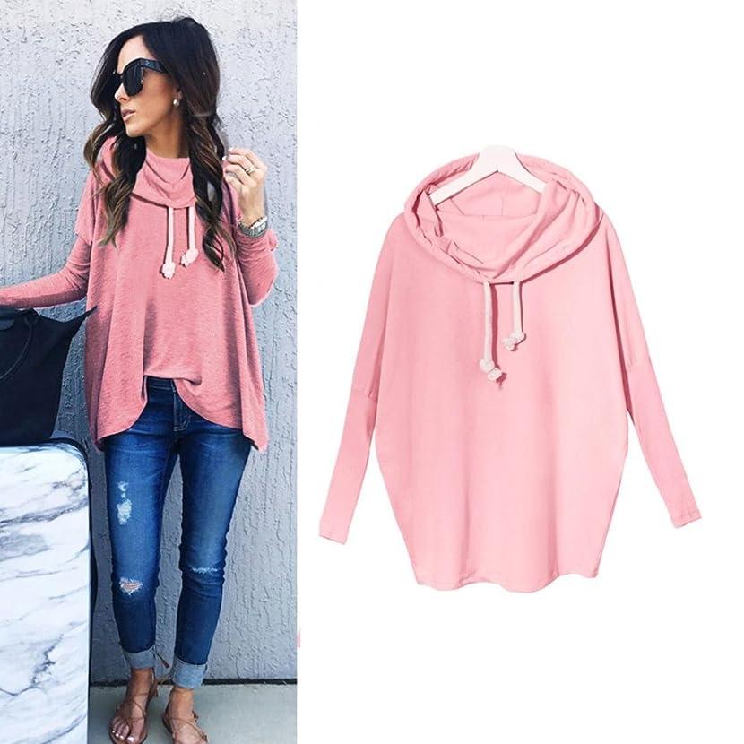 Women Blouse,IEason Women Sweatshirt Bow Neck Long Sleeve Pullovers Tops Blouse (M, Pink)