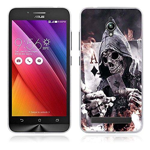 FUBAODA für Asus ZenFone Go ZC500TG Hülle, [Poker] Künstlerische Malerei-Reihe TPU Case Schutzhülle Silikon Case für Asus ZenFone Go ZC500TG (5.0inch)