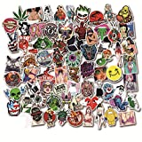 Cool Graffiti Stickers 100 Pieces Not Repeat Various Car Motorcycle Bicycle Skateboard Laptop Luggage Vinyl Sticker Graffiti Laptop Luggage Decals Bumper Stickers(Style_C)