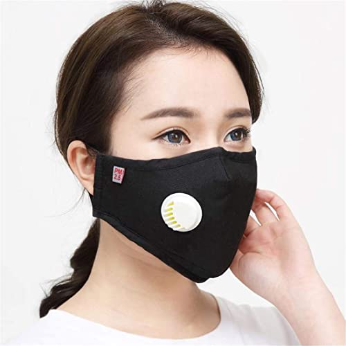 2Pcs Washable Reusable PM2.5 Anti Air Pollution Face Mask with 20pcs Filters (Can be used by both men and women)