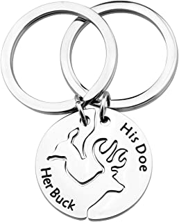 Her Buck His Doe Keychain Set Couple Gift His and Hers Set Matching Keychains