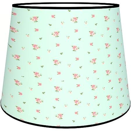 Abat-jours 7111304070927 Conique Imprimé Jeanne Lampe de Chevet, Tissus/PVC, Multicolore