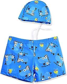 男の子の水着 子供用の水着 ボーイズボクサー水着 フード付き水着 水着水着 (サイズ : XXL)