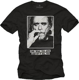 Camiseta Charles Bukowski con Mensajes Originales - Find What You Love