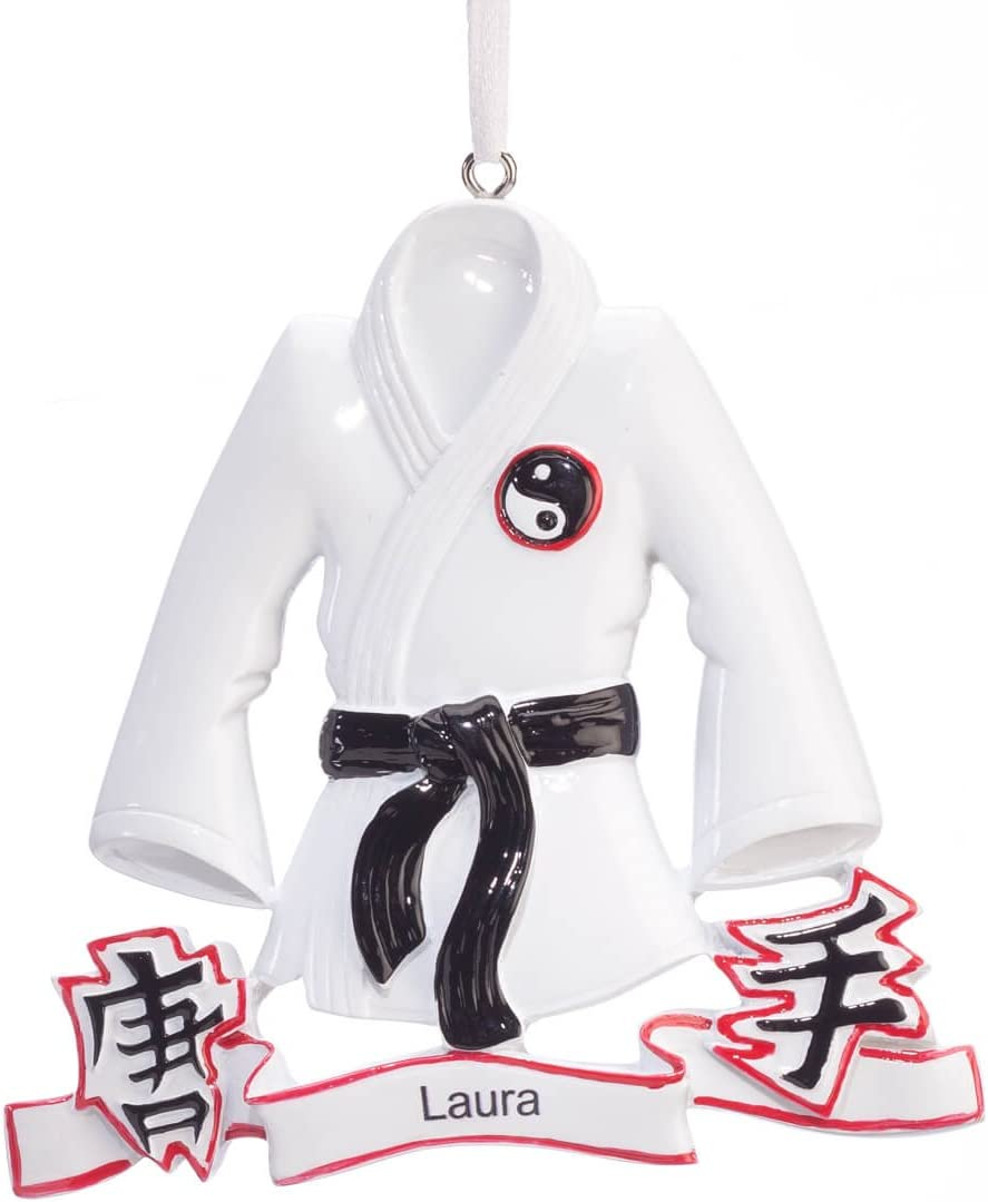 Fox Valley Traders Personalized Karate Ornament