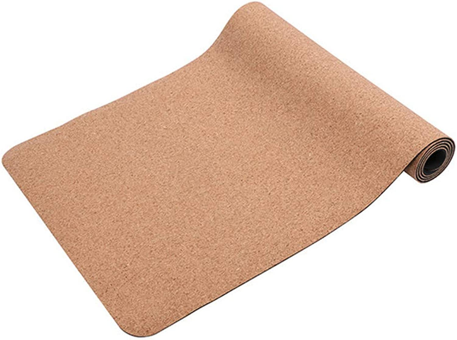 Cork TPE Yoga Mat Environmentally Friendly Safety Soft and Durable NonSlip Suitable for Beginners(183  61  0.4Cm)