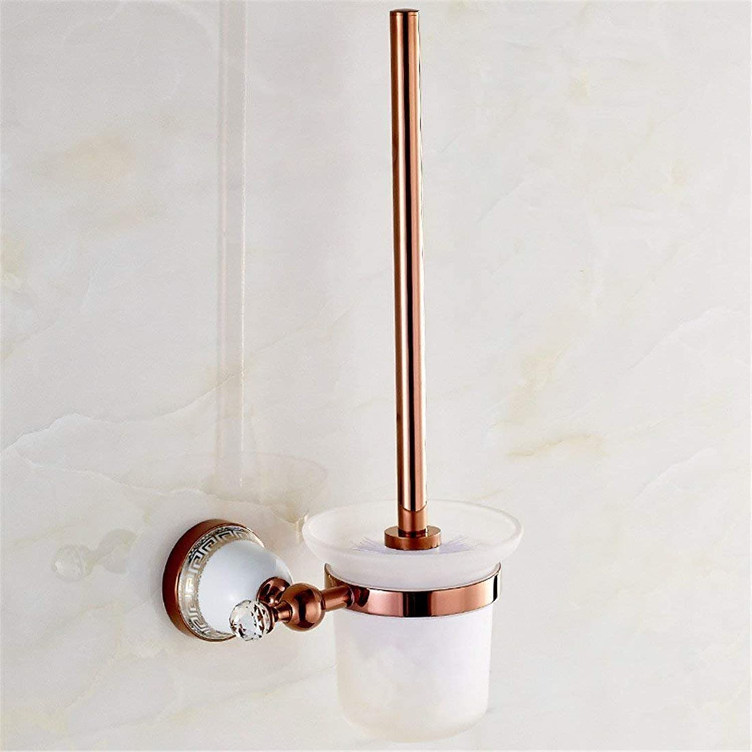 Pink gold, Accessories for Bathroom in Function of The Ceramic Dry-Towels,Pastoral Plateau WC Brush