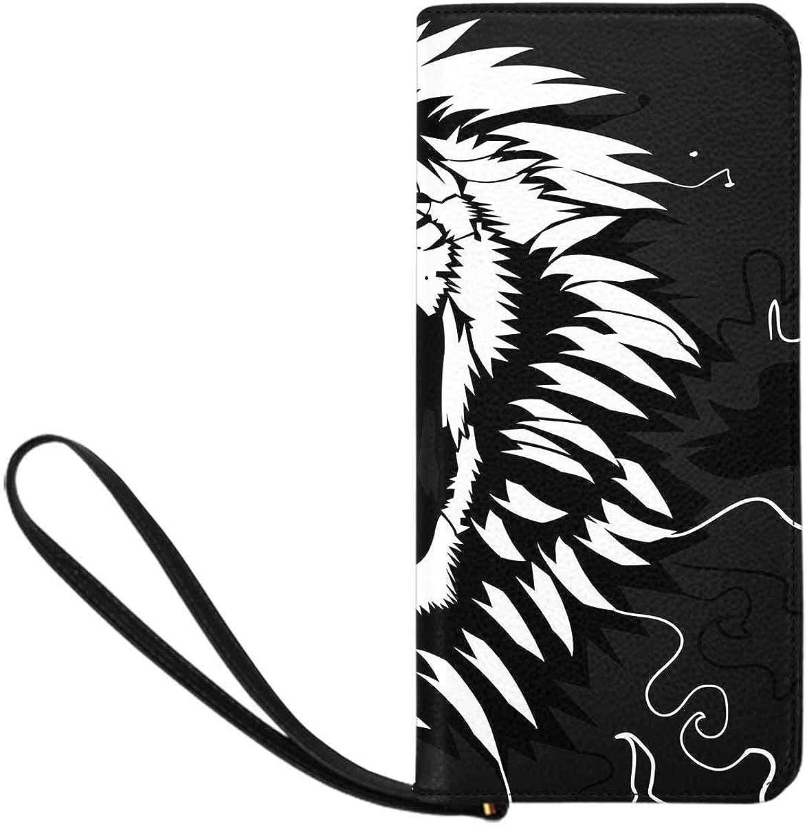 INTERESTPRINT Roaring Lion Wristlet Purse Continental Wallet