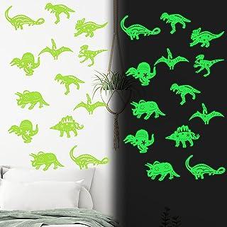 40PCS Luminous Dinosaur Wall Stickers,Dinosaur Decor for...