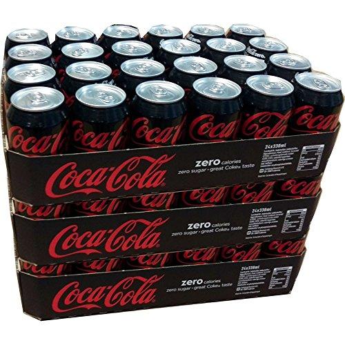 Coca Cola 'Zero' 72 x 0,33l Dose XXL-Paket (Coke Zero)