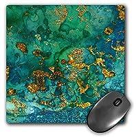 3dRose Art Print of Green Indigo Gold Marble Agate Mineral Malachite Quartz Mouse Pad (mp_275046_1) [並行輸入品]