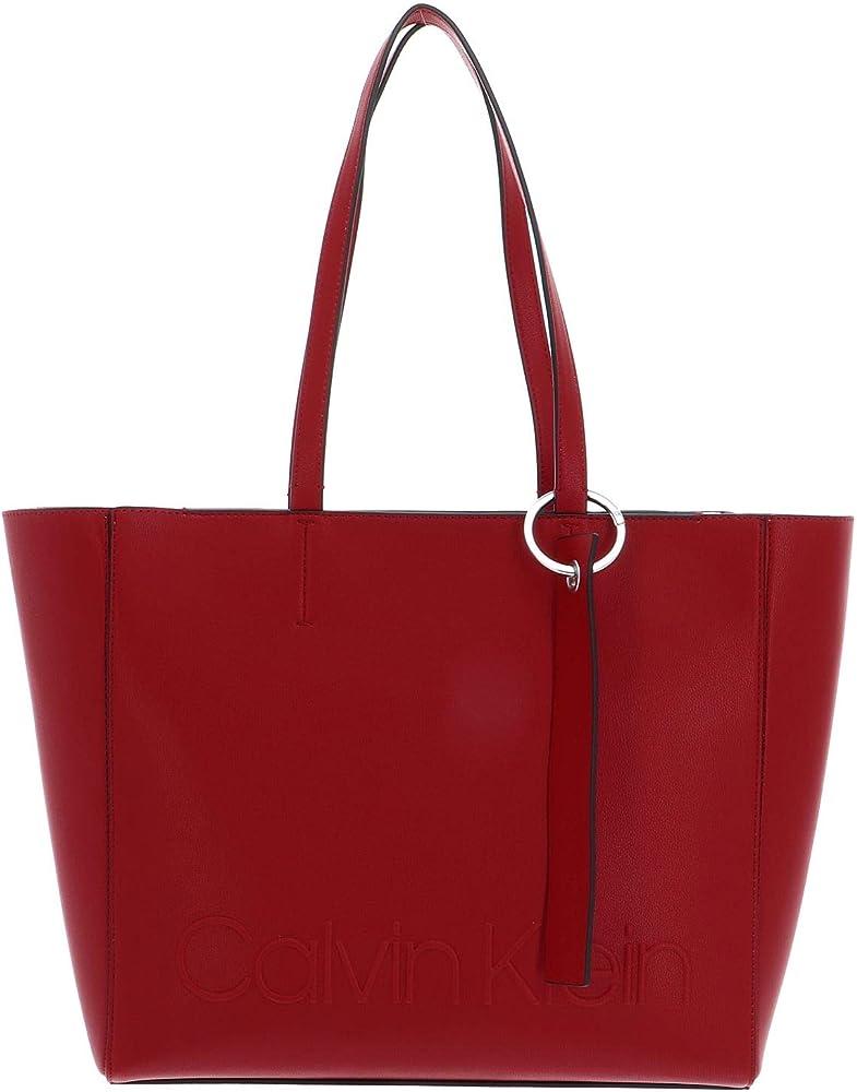 Calvin klein edge shopper borsa da donna a mano in pelle sintetica 7815_13883