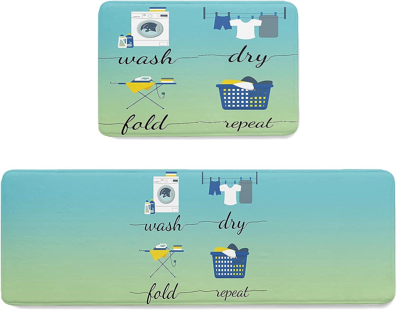 ZOE STORE OFFicial mail order 2 Pieces Memory Sponge Doormats Indoor Set Laundry Elegant Roo