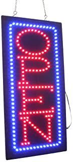 Vertical Open Sign, Super Bright LED Open Sign, Store Sign, Business Sign, Windows Sign